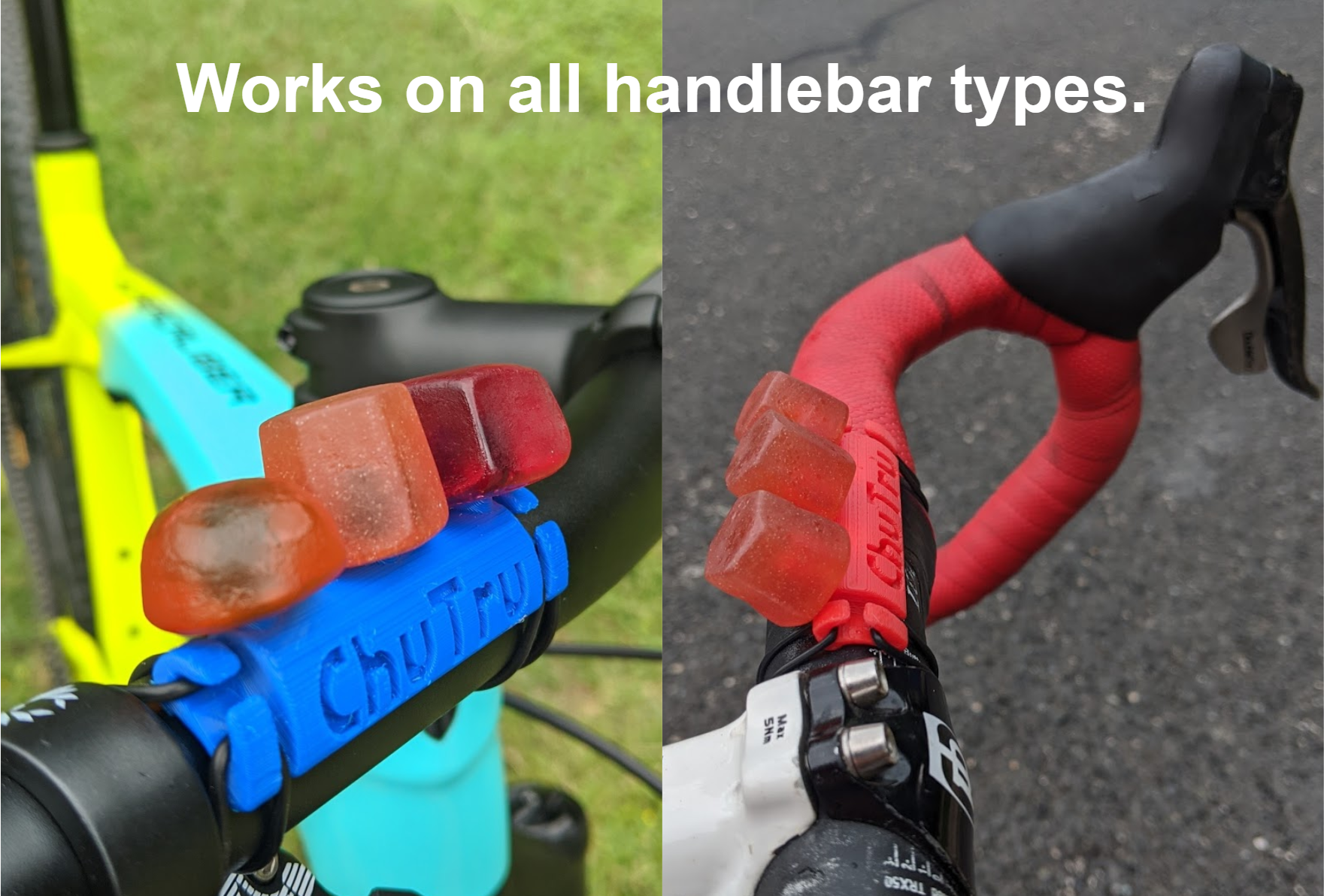 Works on all handlebar types.